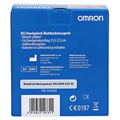 OMRON RS2 Handgelenk Blutdruckmessgerät vollautom. 1 Stück - Rückseite
