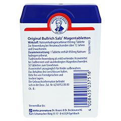 Bullrich-Salz Magentabletten 50 Stück - Rückseite