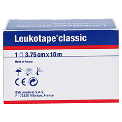 Leukotape Classic 3,75 cmx10 m weiß 1 Stück - Rückseite