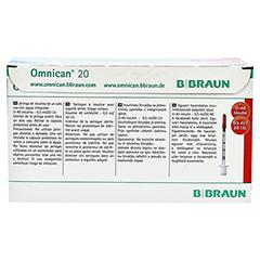 OMNICAN Insulinspr.0,5 ml U40 m.Kan.0,30x8 mm 100 Stück - Rückseite