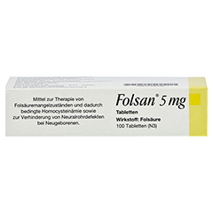 FOLSAN 5 mg Tabletten 100 Stück N3 - Oberseite
