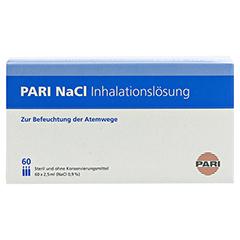 PARI NaCl Inhalationslösung Ampullen 60x2.5 Milliliter - Oberseite