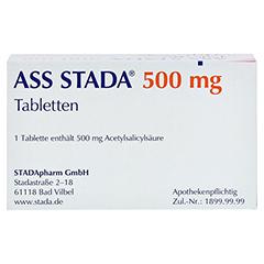 ASS STADA 500mg 100 Stück - Oberseite