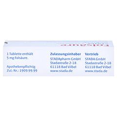 FOLSÄURE STADA 5 mg Tabletten 50 Stück N2 - Oberseite