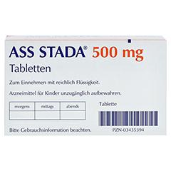 ASS STADA 500mg 100 Stück - Unterseite