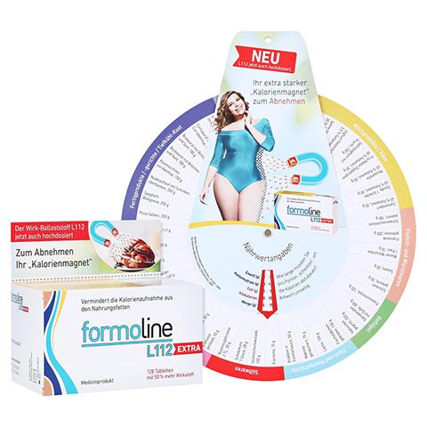 FORMOLINE L112 Extra Tabletten + gratis formoline Kalorienzähler 128 Stück