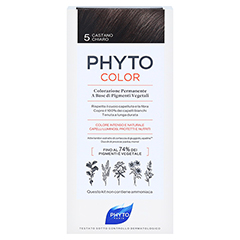 PHYTOCOLOR 5 helles braun ohne Ammoniak 1 Stück - Rückseite