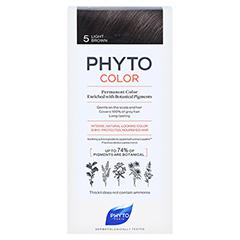PHYTOCOLOR 5 helles braun ohne Ammoniak 1 Stück - Vorderseite