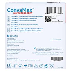 CONVAMAX Superabsorber nicht adhäsiv 10x10 cm 10 Stück - Rückseite