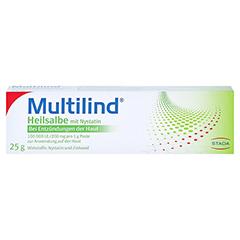 Multilind Heilsalbe mit Nystatin + gratis Multilind Waschlappen 25 Gramm N1 - Vorderseite