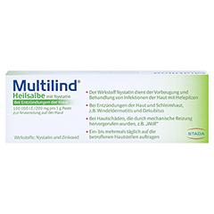 Multilind Heilsalbe mit Nystatin + gratis Multilind Waschlappen 50 Gramm N2 - Rückseite