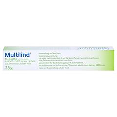 Multilind Heilsalbe mit Nystatin + gratis Multilind Waschlappen 25 Gramm N1 - Oberseite