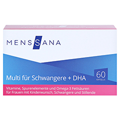 MULTI FÜR Schwangere+DHA MensSana Kapseln 60 Stück - Vorderseite