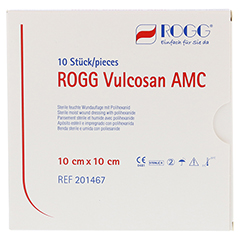 ROGG VULCOSAN AMC 10x10 cm Wundauflage 10 Stück
