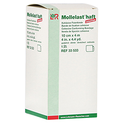 MOLLELAST haft Binden latexfrei 10 cmx4 m weiß 1 Stück