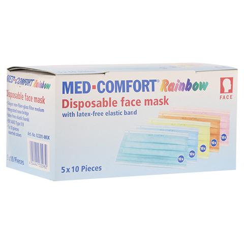 MED COMFORT Mundschutz RAINBOW Farbmix 50 Stück