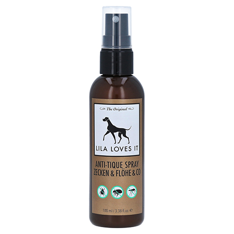 ANTI-TIQUE Spray Zecken&Flöhe&Co Lila Loves it vet 100 Milliliter