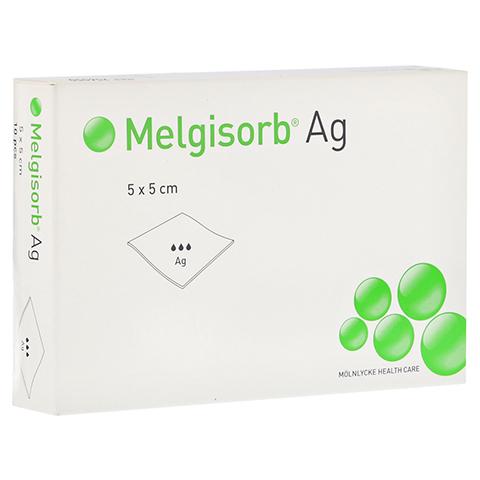 MELGISORB Ag Verband 5x5 cm 10 Stück