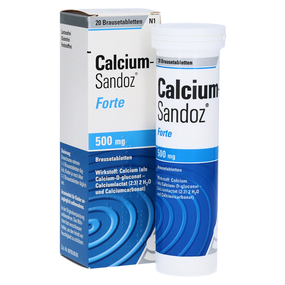 calcium sandoz forte 500mg 20 st ck n1 online bestellen. Black Bedroom Furniture Sets. Home Design Ideas