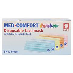 MED COMFORT Mundschutz RAINBOW Farbmix 50 Stück - Vorderseite