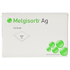 MELGISORB Ag Verband 5x5 cm 10 Stück - Vorderseite