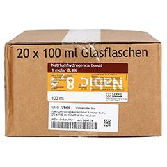 NATRIUM HYDROGENCARBONAT 8,4% 1 mol Glas 20x100 Milliliter - Vorderseite