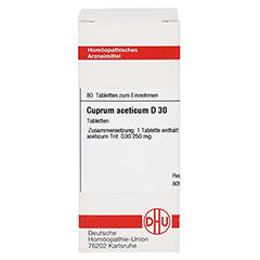 CUPRUM ACETICUM D 30 Tabletten 80 Stück - Vorderseite