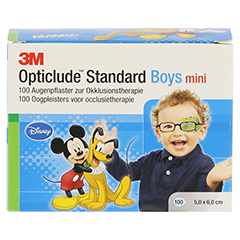 Opticlude 3M Standard Disney Pflaster Boys mini 100 Stück - Vorderseite