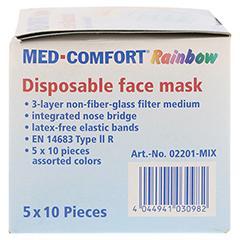MED COMFORT Mundschutz RAINBOW Farbmix 50 Stück - Linke Seite