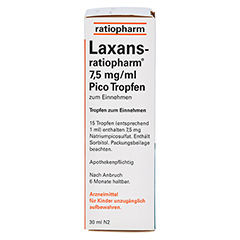 Laxans-ratiopharm 7,5mg/ml Pico 30 Milliliter N2 - Linke Seite