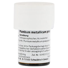 PLUMBUM METALLICUM praep. D 20 Trituration 20 Gramm N1 - Linke Seite