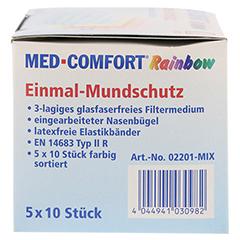 MED COMFORT Mundschutz RAINBOW Farbmix 50 Stück - Rechte Seite