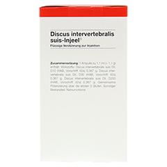 DISCUS INTERVERTEBRALIS suis Injeel Ampullen 100 Stück N3 - Rechte Seite