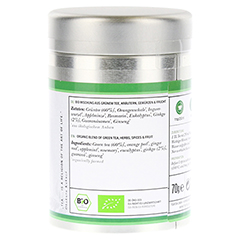 FRESH FOCUS Organic green Tea with Ginkgo Dose 70 Gramm - Linke Seite