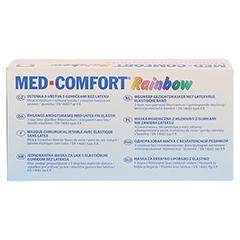 MED COMFORT Mundschutz RAINBOW Farbmix 50 Stück - Rückseite