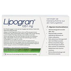 LIPOGRAN Tabletten 60 Stück - Rückseite