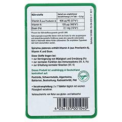 SPIRULINA MIKROALGEN 400 mg Sanatur Tabletten 100 Stück - Rückseite