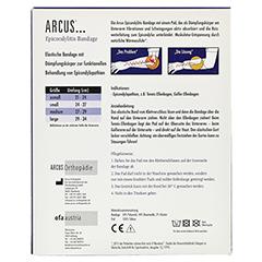 ARCUS Epicondyltis Bandage Gr.L marine 1 Stück - Rückseite