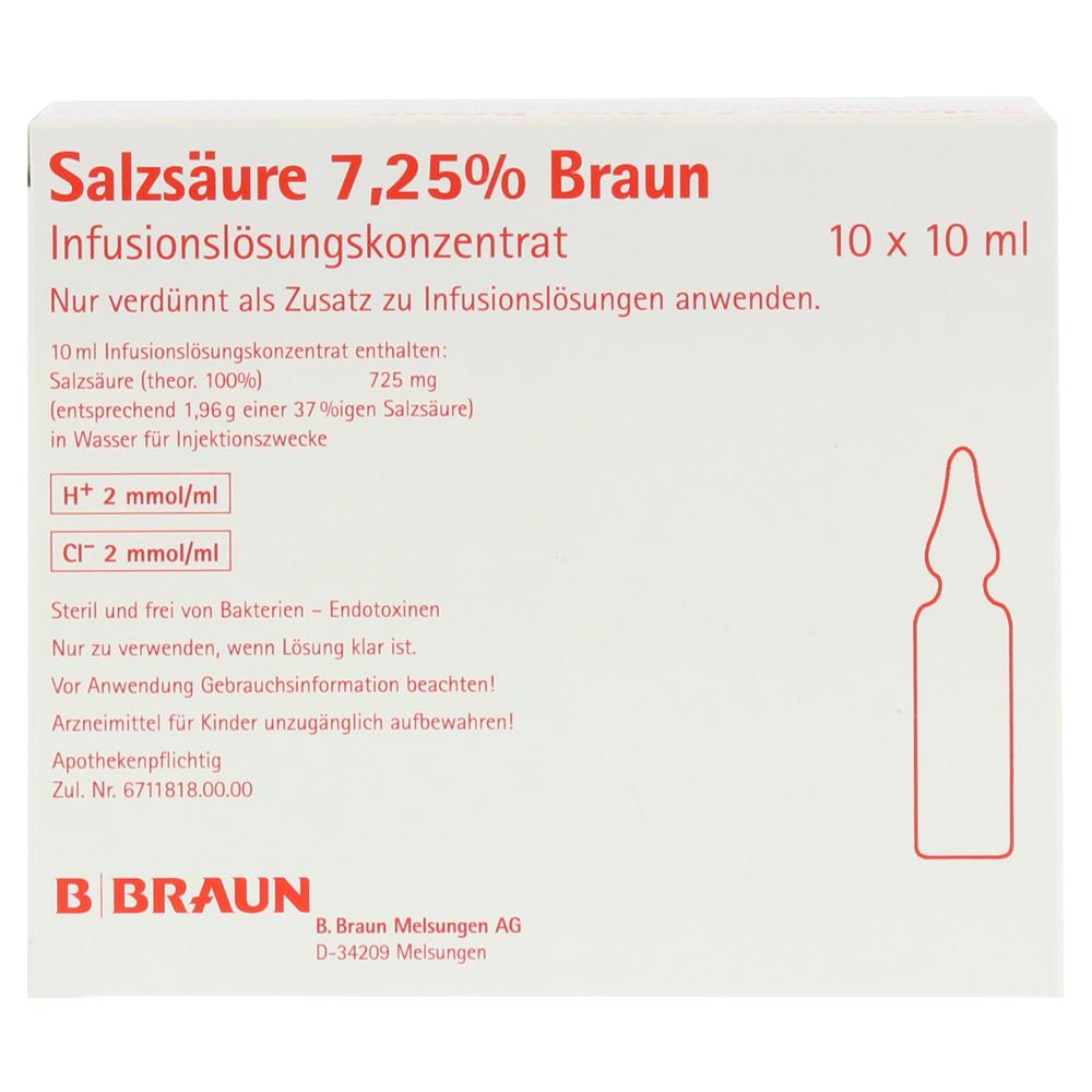 salzs ure braun 7 25 infusionslsg konzentrat 10x10 milliliter n2 online bestellen medpex. Black Bedroom Furniture Sets. Home Design Ideas