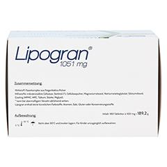 LIPOGRAN Tabletten 180 Stück - Unterseite