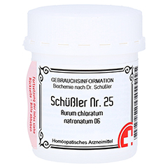 SCHÜSSLER Nr.25 Aurum chloratum natronat.D 6 Tabl. 400 Stück