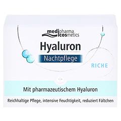 HYALURON NACHTPFLEGE riche Creme im Tiegel 50 Milliliter - Vorderseite