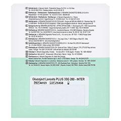 GLUCOJECT Lancets 200 Stück - Rückseite