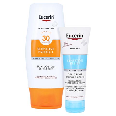 Eucerin Sun Lotion Extra Leicht LSF 30 + gratis Eucerin After Sun 50 ml 150 Milliliter