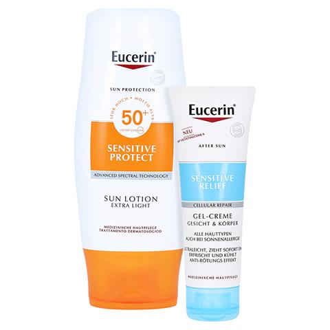 Eucerin Sun Lotion Extra Leicht LSF 50 + gratis Eucerin After Sun 50 ml 150 Milliliter