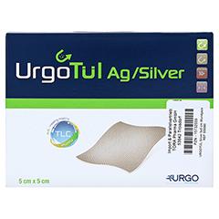 URGOTÜL Silver 5x5 cm Wundgaze 10 Stück - Vorderseite