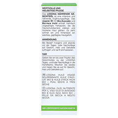 LOGONA NOURISH nährendes Gesichtsöl Bio-Avocado 30 Milliliter - Rückseite