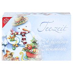 H&S Adventskalender Schneemann Filterbeutel 24 Stück - Vorderseite