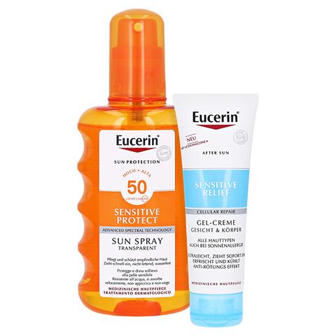 Eucerin Sun Transparent Spray LSF 50 + gratis Eucerin After Sun 50 ml 200 Milliliter