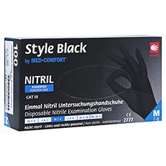 NITRIL Unters.Handschuhe unste.puderfrei M schwarz 100 Stück